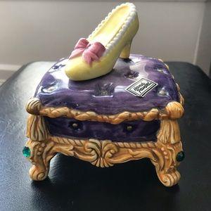 Cinderella Golden Slipper Handpainted Box
